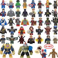 grande figura do hulk venda por atacado-NOVA super hero Mini Figuras 42 SET Thanos Big Hulk Mulher Maravilha Deadpool Logan Black Panther Doctor Estranho blocos de Construção crianças presentes