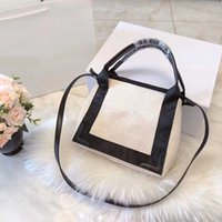 Wholesale material shopping bags - Large capacity designer bags linen material famous B brand shopping bag canvas fashion totes cluth women designer bags