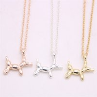 Wholesale animal balloons for wholesale online - Animal element balloon pendant necklace Balloon dog pendant necklace designed for women Retail and mix