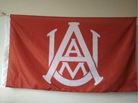 Wholesale alabama flags - Alabama A&M Bulldogs Flag 90 x 150 cm Polyester NCAA Stars And Stripes Banner