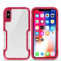 tampa dura do robô iphone venda por atacado-Top celular tampa traseira caso robô claro Híbrido TPU + Borracha Hard Rugged Armor Phone Case para samsung nota 9 S9 S8 PLUS IPHONE X 8 7 PLUS