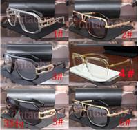 Wholesale over sunglasses resale online - Moq Unisex Sun Glasses Fashion Sunglasses Vintage Goggle Glasses Tide Metal Frames Over sized Lens Frame Eye wear Colors Shipping