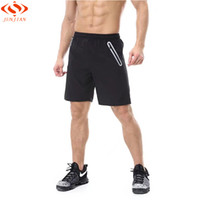 Wholesale Reflective Running Clothes - Men Sports Running Shorts Breathable Reflective Zipper Pocket Gym Fitness Clothing Joggers Training Short