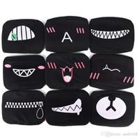 ingrosso maschera nera-Black Bear Mouth Maschera Anti-Polvere Panda Cotone Divertente Modello Masquerade Cosplay Costume Maschera di Partito Xmas Halloween HH7-1468