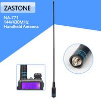 ingrosso palmare a doppia banda-Zastone NA-771 Antenna DUAL BAND NA771 SMA-Femmina 144 / 430MHz per telecomando Baofeng Radio UV-5R 888S TG-UV2 walkie-talkie