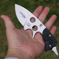 cuchillas de acero de hoja fija d2 al por mayor-Envío gratis BLFORCES D2 acero fijo Blade G10 mango Cuchillo de caza cuchillo de camping