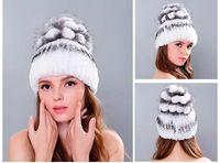Wholesale high quality mink hats - 2017 Winter high-quality women's fur Hats natural mink fur hat for women ladies casual berets hats women caps