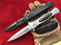 beste taschenmesser messer großhandel-SOG D25 G707 Auto Klappmesser 8Cr14Mov Stahl Dolch Cocobolo / Kohlefaser Griff Auto EDC Taktische Ausrüstung Pocket Tools Messer