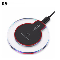 Wholesale Phone Charger Docking Station - Qi Wireless Charger K9 For Samsung S8 S7 S6 edge Note 5 8 iPhone X 8 Plus Portable Wireless Charging Phone Dock Station