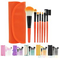 Wholesale brow concealer for sale - 7Pcs Cosmetic Makeup Tool Powder Blush Eyelash Brow Concealer Lip Brush Kit Set DZP