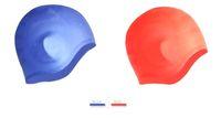 водонепроницаемая ткань оптовых-Verzy MaleFemale силиконовая шапочка для плавания уха защиты 6 цветов водонепроницаемый Abult PU ткань твердые свободный размер стрейч плавать шапочки
