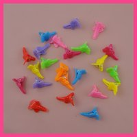 kelebek klibi saç yayları toptan satış-100 ADET 1.6 cm * 2.5 cm Renkli kelebek yay Kafa mini Plastik saç timsah Klipler Çocuklar saç aksesuarları tokalar promosyon ürünleri