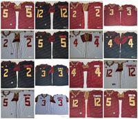 Wholesale fsu jersey - Mens ACC FSU Florida State Seminoles 2 Deion Sanders 3 James 4 Cook 5 Winston 12 Deondre Francois NCAA College Football Jerseys