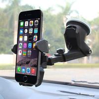 universal-fensterwagenhalterung großhandel-Autohalterung Fensterhalter 3-6,5 Zoll Universal Windschutzscheibe Armaturenbrett Handyhalter starke Absaugung GPS Halterung Stand HDSZ020