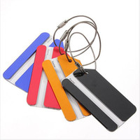 Wholesale plastic luggage labels - New Boarding Pass Aircraft Plane Luggage ID Tags Boarding Travel Address ID Card Case Bag Labels Card Dog Tag Collection Key Rings