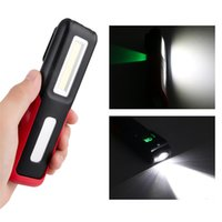 Wholesale fishing magnets - COB LED Flashlight Work Inspection Torch Light Outdoor Handy Portable Lantern USB Rechargeable Hanging Lamp With Magnet Hook