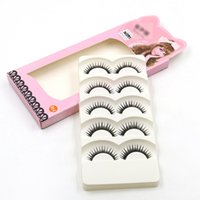 Wholesale Up Strip - New Arrival 30+ Style 5 Pairs Women Lady Natural Eye Lashes Extension Makeup Handmade Thick Fake Cross Make Up Beauty False Eyelashes