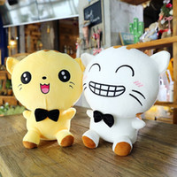 Wholesale big cat pillows resale online - big tail cat face doll plush toy large cat pillow children doll