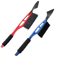 Wholesale eva hair online - Snow Shovel For Vehicle EVA Handle Two in one More Function Shovel Snow Cleaning Hair Brush Except Snow Good Helper