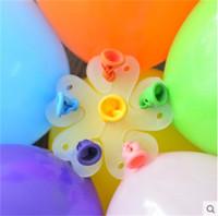ingrosso nuove forme di palloncino-Nuovo modello Palloncino Clip Plum Blossom Shape Clamp Decorazione casa nuziale Fiore stile pulsante Accessori Fibbia 0 07ds jj