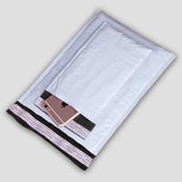 weiße blasenumschläge großhandel-Starker gepolsterter stoßsicherer Pfosten-Verschiffen-Versandpaket-Umschläge Graue weiße Farbe PET-Polykurier-Umschlag-Werbungs-Blase