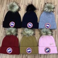 beanie de snowboard venda por atacado-Unisex inverno Caps marca Canadá CA homens chapéu de malha de moda clássico esportes caps crânio feminino casual homem ao ar livre mulheres ganso gorros