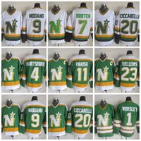 minnesota north stars jerseys achat en gros de-CCM North Stars Hockey 11 JP PARISE 4 Craig Hartsburg 1 Gump Worsley 9 Mike Modano 20 Dino Ciccarelli maillots cousus