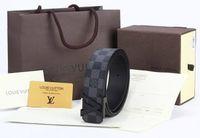 schwarz auto vinyl großhandel-CHECKGURT OFFIZIELL MIT ORIGINAL BOX SCHWARZ M9808 Damen Herren Echtleder REVERSIBLE BUCKLE BELT Offiziell mit Box