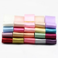 Wholesale ribbon embroidery decoration - 25mm Double Faced Satin Ribbon 26 Colors DIY Jewelry Craft Suplies Arts and Crafts Home Room Decor Party Sypplies Wedding Decoration