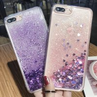 Wholesale cell phone float - For iPhone 6 7 8plus X For Samsung Galaxy S6 S7edge S8 S9plus note8 Quicksand Soft TPU Floating Luxury Designer Cell Phone cases