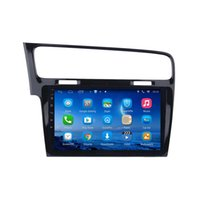 navigation toptan satış-2014-2018 VW Golf 7 nesil 10.1 inç Yatay dokunmatik Ekran Android Araba GPS Navigasyon multimedya Video Bluetooth Wifi