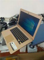 Wholesale Netbook Inch Windows - 2pcs pc 14.1 inch 4GB RAM 64GB Windows 10 Ultrabook Quad Core Fast run Laptop Netbook Notebook Computer Free 4slot USB gift