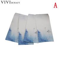 винтажные письма оптовых-Vividcraft School Supplies 5 pcs/Pack Chinese Style Vintage Flower Craft Paper Mini Envelope For Leer Set Paper Postcards