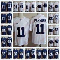 jerseys del balompié de la universidad del ncaa al por mayor-NCAA Penn State Nittany Lions # 11 Micah Parsons 24 Miles Sanders 84 Juwan Johnson 48 Shareef Miller Connor McGovern College Fútbol Jerseys