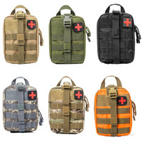 Wholesale medical pouches - Outdoor EDC Molle Tactical Pouch Bag Emergency First Aid Kit Bag Travel Camping Hiking Climbing Medical Kits Bags