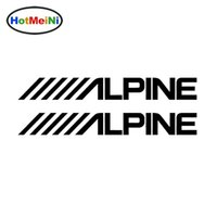 Wholesale alpine white - Wholesale Vinyl Decal Car Stickers Glass window Bumper Door SUV Auto Accessories Jdm Alpine Audio Speakers Stereo Amplifier Sounds