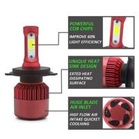 Wholesale h4 h1 bulb conversion resale online - LED H4 Car Headlight Bulb Canbus H7 W LM H1 H3 HB3 HB4 V Automobile headLamp Conversion Kit H4 Hi Lo Beam