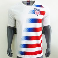 Wholesale men office shirts - Top AAA Office Quality Version 2018 USA United States home soccer jersey shirt DEMPSEY PULISIC YEDLIN ALTIDORE Soccer Jersey Shirt