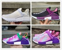 Wholesale Newest Designer Sneakers - Newest Color 2018 NMD Human Race Pharrell x Hu Trail Holi Men Womens Running Shoes NMD noble ink core Blank Canvas sports Designer Sneakers