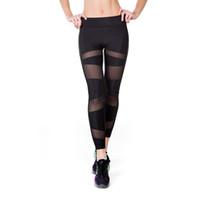 seksi yoga pantolonları toptan satış-2018 Için Yeni Tayt Spor Seksi Spor Kadın Sıska Elastik Spor Tayt Yoga Pantolon Nefes Eğitim Yüksek Bel Spor Pantolon