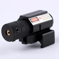 airsoft silah avı toptan satış-Güçlü Taktik Mini Red Dot Lazer Sight Kapsam Weaver Picatinny Montaj Seti Gun Tüfek Tabanca Atış için Airsoft Tüfek Avcılık
