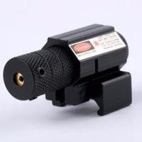 láser punto rojo para fusiles al por mayor-Potente Tactical Mini Red Dot Laser Sight Scope Tejedor Picatinny Mount Set para Gun Rifle Pistola Shot Airsoft Riflescope Caza