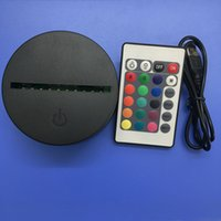 Wholesale emergency lights batteries for sale - 2018 Economic RGB Lights LED Lamp Base IR Remote AA Battery Bin D Optical Lamps Touch Switch Novelty Lighting Table lamp