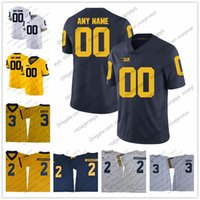 Custom Michigan Wolverines College Football Stitched Any Name Number Jerseys  white navy blue yellow gold Brady Patterson Gary Collins Bush c515d7755