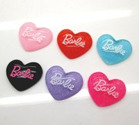 Wholesale Animal Resin Cabochons - Wholesale- 30Pcs Mixed Heart Letter Kawaii Flatback Scrapbooking Resin Cabochons Craft