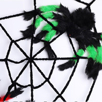 Wholesale halloween party decorations spider webs resale online - Halloween Prop Spider Web Haunted House Bar Decoration Articles Simulation Plush Trick Toys Party Supplies Black Pure Color xc4 bb
