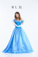 Wholesale cinderella costume for women - Princess Dress Halloween Costume Cinderella Adult Princess Costume Evening Dress For The Masquerade Cosplay Womens Clothing