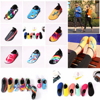 Wholesale kids sports shoes wholesale - Diving Beach Mesh Shoes Non-Slip Slip-on Barefoot Water Sports Skin Shoes Aqua Socks Adults Kids Swimming Surfing Yoga Exercise AAA419