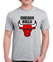 Wholesale Uk T Shirt Printing - Chicargo Bulls Basketball -Mens T Shirt UK 2017 New Men'S Tee Shirts Men'S High Quality Tops Hipster Tees Western Style