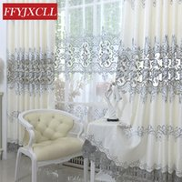 Wholesale embroidered linen curtains for sale - Group buy Luxury Europe Embroidered Tulle Window Curtain For living Room Bedroom Blackout Curtains Window Treatment Drapes Home Decor